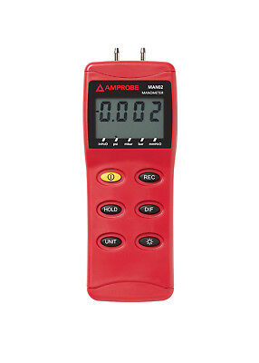 Amprobe Man02-A Differential Pressure Manometer With Case Up To 2 Psi Hvac+R