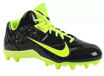 Nike Men's Speedlax 4 Lacrosse Cleats Size 12 Nwob Anthracite/volt 616297-007