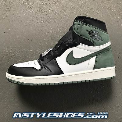 NIKE AIR JORDAN 1 High OG Clay Green Black Toe 555088-135 -  199.99 ... c4fd4d784
