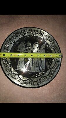 """Vintage Mixed Metal Egyptian Plate Wall Art Made In Egypt 8"""""""