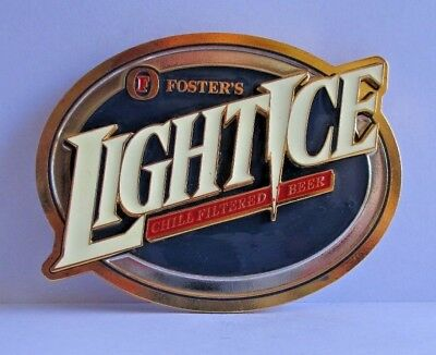 Fosters Light Ice Beer font tap top metal screw on handle knob badge for bar