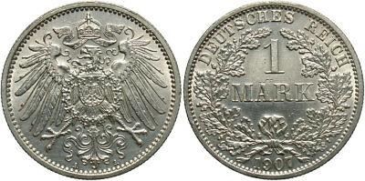GERMANY: 1907-A 1 Mark #WC71354