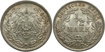 GERMANY: 1914-A 1/2 Mark #WC71337