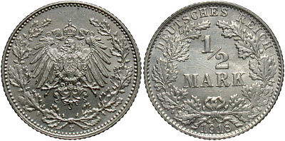 GERMANY: 1918-E 1/2 Mark #WC71339