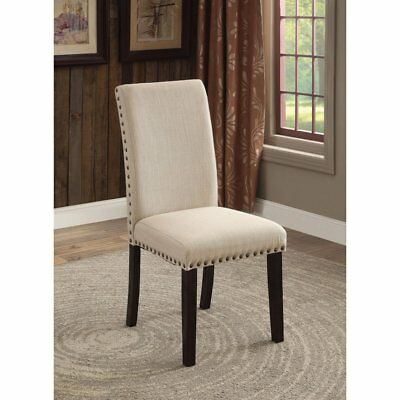 Furniture Of America Althea Contemporary Style Tufted Dining Chair Set 2