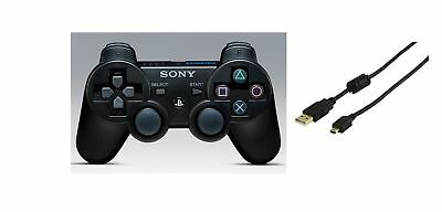Genuine Original OEM PS3 Playstation 3 Wireless Dualshock 3 With USB Cable