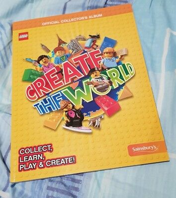 Lego Create the World trading card album ONLY