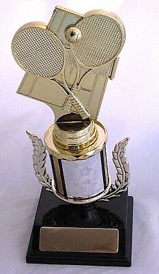 Tennis Equip 190mm Trophy Engraved FREE