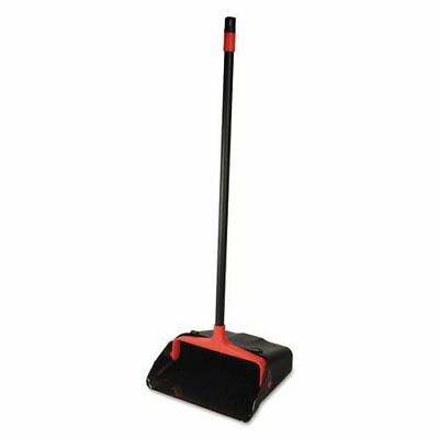 "DIVERSEY Maxi-Plus Lobby Dust Pan With Rear Wheels, Black, 13""wide, 30""handle, 6"