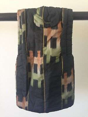 Child's Small Vintage Silk Japanese One of a Kind Costume Hand Made Padded Vest