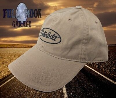 New Peterbilt Khaki Mens Relaxed Fit Mens Cap Hat