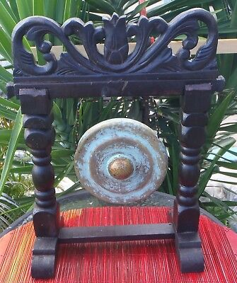 Home Decor Handmade & Carve Gong Design Metal Middle Nipple Gong New Antique