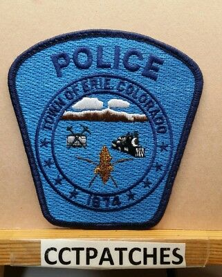 Town Of Erie, Colorado Police Shoulder Patch Co