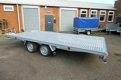 NEW Twin Axle Platform Car Transporter Recovery Trailer MARS 2700kg 4.5m