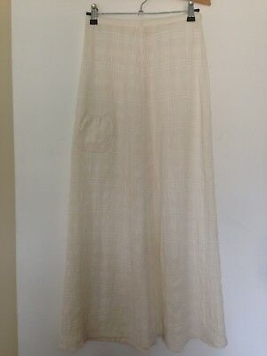 Vintage Cream Cheese Cloth Cotton A-Line Maxi Skirt - Size XS (6/8)