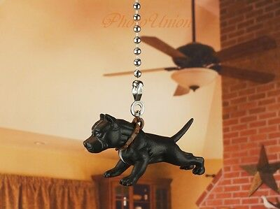 Hood Hounds Pit Bull Dog Ceiling Fan Pull Light Lamp Chain Decoration K1285 A
