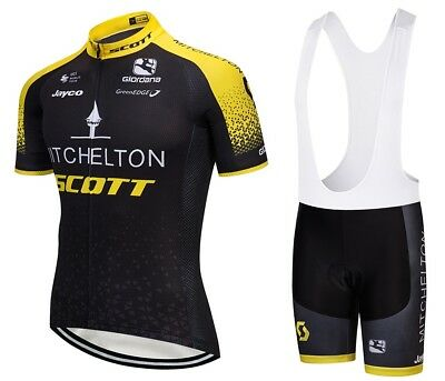 2018 Team Mitchelton Scoot Pro Cycling Team Jersey 9D Gel Pad Bike Bib Shorts