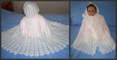 Reborn Dolls Clothes  Crochet Cape For New Born Baby Or Reborn Doll