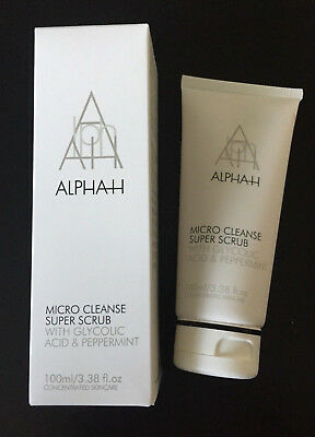 ALPHA-H MICRO CLEANSE SUPER SCRUB WITH GLYCOLIC ACID & PEPPERMINT  100ml