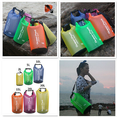 Outdoor Backpack Kayak Ocean Pack Waterproof Dry Bag Sack Multi Color 2-20L