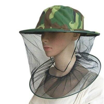 Hot Head Face Protector Hat Cap Bee Insect Mosquito Fly Resistance Net Mesh