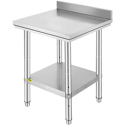 "24""x24"" Stainless Steel Work Food Prep Table with Backsplash Tool NSF Restaurant"