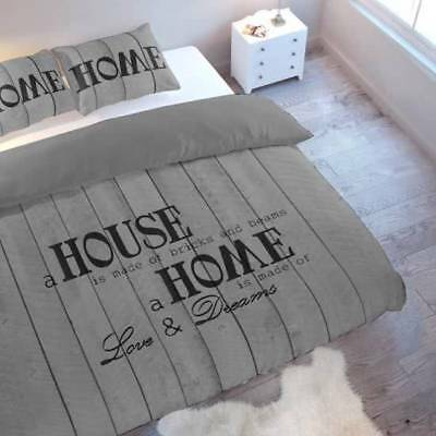 Duvet cover set Home is made of Love Grey double size 200 x 200 cm