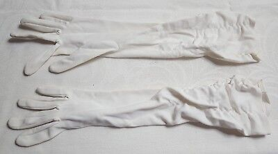 Vintage Pair of White Ladies OPERA Gloves Stretchy One Size Fits Most