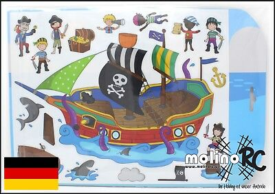 stickabouts Piratenschiff | Sticker wiederverwendbar Stickeralbum Fensterbilder