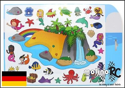 stickabouts Magical Island | Sticker wiederverwendbar Stickeralbum Fensterbilder