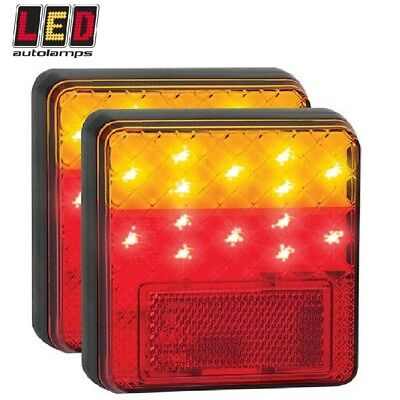Autolamps Trailer LED Tail Light Stop Tail Indicator & Reflector Waterproof PAIR