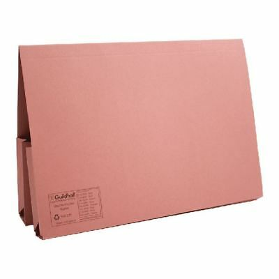 Guildhall Pink Double Pocket Legal Wallet Foolscap (Pack of 25) [GH10072]