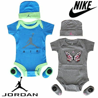 Nike Baby Set Michael Jordan Jumpman 3 Piece Infant Clothes Cap Suit and Booties