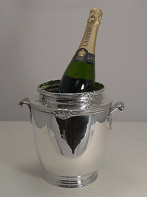 Quality French Art Nouveau Silver Plated Wine Cooler c.1910