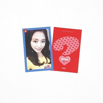 [TWICE]What is Love? Album Official Photocard - TZUYU 3