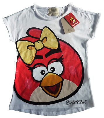 ZARA Girls ANGRY BIRDS T-shirt RED Top 9-10y 11-12y £10.99