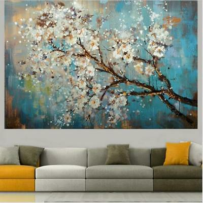Large 100%  Hand painted Flowers Tree Abstract  Mordern Oil Painting  On Canv...