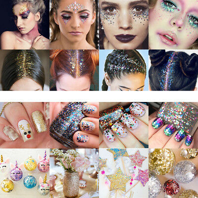 Chunky Glitter Mixed Flake Body Art Nail Hair Face Eye Shadow Body Makeup