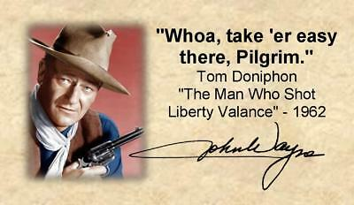 "John Wayne Fridge Magnet 2""x3.5"" Movie Quote for Kitchen Man Cave Bar Tool Box"