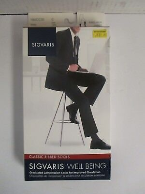 Sigvaris Well Being Classic Ribbed Socks Size C Khaki - Rc 6274