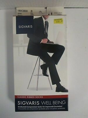 Sigvaris Well Being Classic Ribbed Socks Size B White - Rc 6272