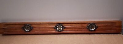 "Vintage Stanley 28"" or 71cm long Spirit Level & Double Plumb Cherry Wood"