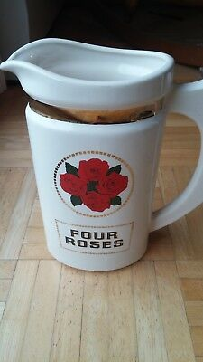Four Roses Whiskey Large Ceramic Pitcher-Great Condition-Free Shipping