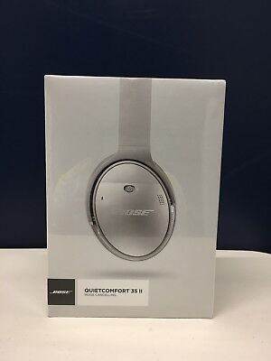 Bose QuietComfort 35 II Wireless Headphones, Noise Cancelling - Silver Brand New