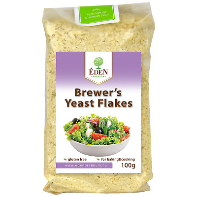 Glutenfreie Bierhefe Flocken 100 g, Vegan / Brewers Yeast Flakes