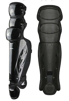 "Champro Pro-Plus Umpire Leg Guard 17"" Baseball Softball Protection Black CG370"