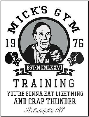 Vintage Metal Plaque Rocky Boxing Movie Fight Micks GYM Workout Poster Wall Sign