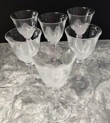 Cristal d' Arques Durand FLORENCE Crystal Lot Of 6 Wine Glasses
