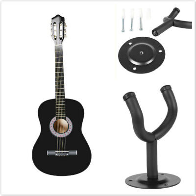 "39.3"" 6 Strings Student Adult Beginners Acoustic Guitar w/ Case Strap +Hanger UK"