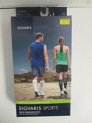 Sigvaris Sports Athletic Recovery Socks Size Large Black - Rc 6304